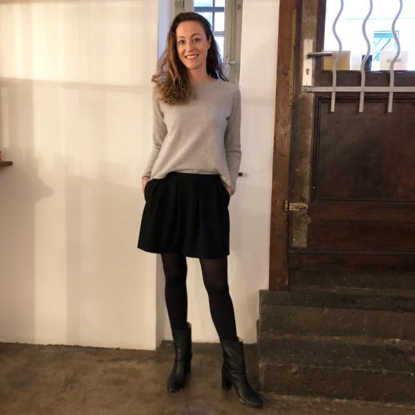 merz b. schwanen | skcn01 rundhals pullover oversized grey